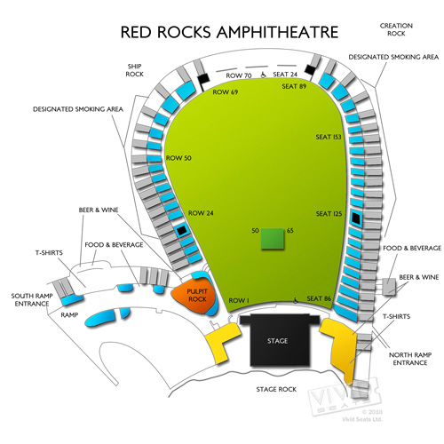 Red rocks amphitheatre seating chart red rock amphitheatre
